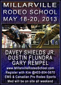 Millarville Rodeo School Ad for 2013