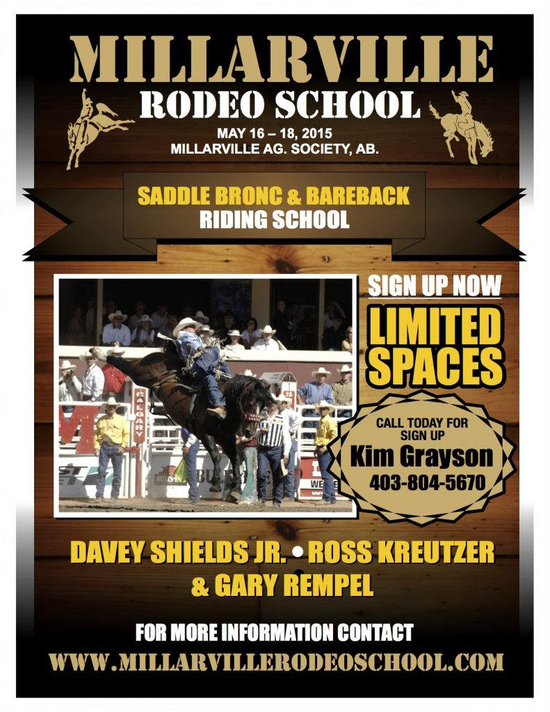 MILLARVILLE RODEO POSTER 2015