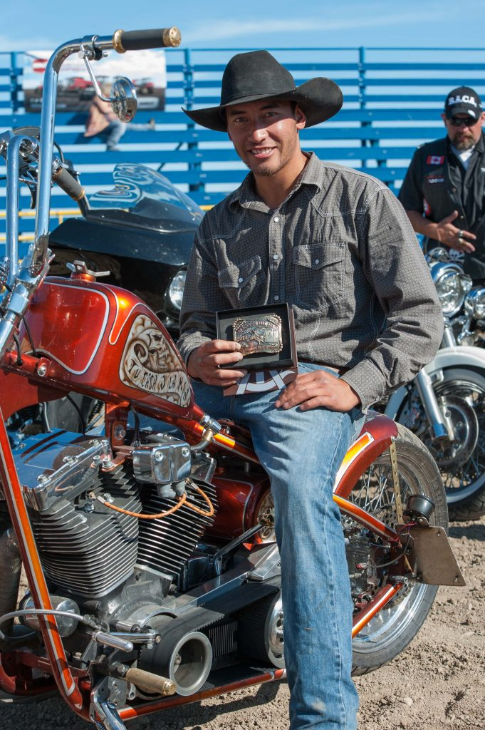 during the Bull Riders Canada Airdrie Oilmen's Association Bikes and Bulls 2015 on 20150823 at  Airdrie Rodeo Grounds in Airdrie, Alberta. Photo: Jack Vanstone Legendary Photoworks