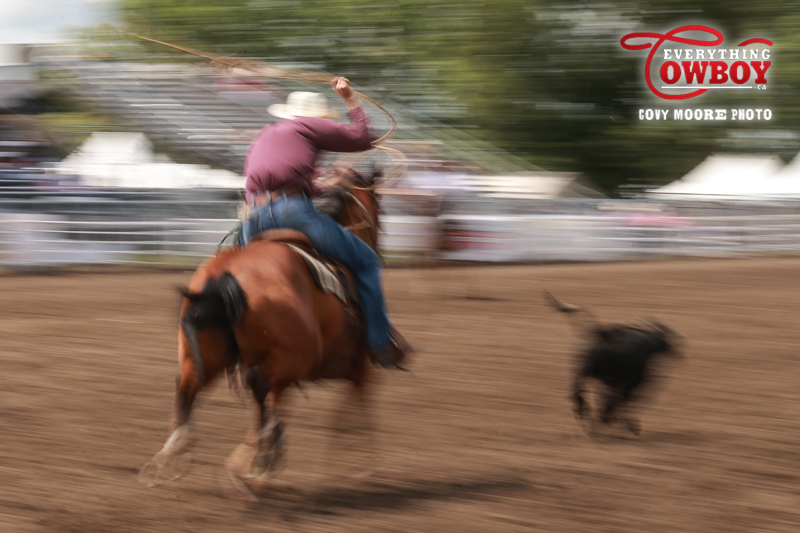 Tie down roping is a fast and furious game. (Covy Moore/CovyMoore.com)